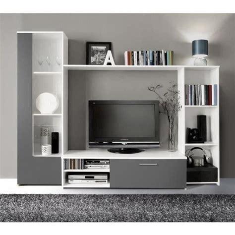 meuble télé chambre finlandek meuble tv mural pilvi contemporain blanc et gris