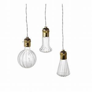 Lampe Globe Verre : les luminaires en forme d ampoule zoom sur la tendance marie claire ~ Teatrodelosmanantiales.com Idées de Décoration