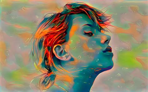 Scarlett Johansson, Celebrity, Deep art, Artwork ...