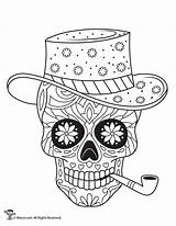 Coloring Skulls Sugar Pages Adult Dead Skull Printable Sheets Colouring Mandala Print Books Halloween Woojr Candy Easy Roses Cat Printables sketch template