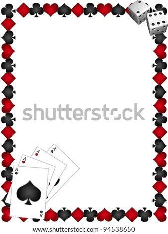 frame signs poker royal flush spades stock illustration