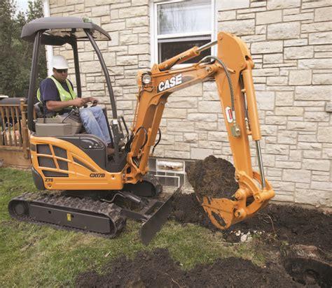 mini excavators case cxb underground construction