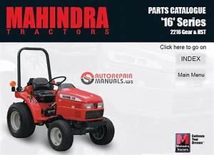 Mahindra Tractor 16 Series 2216 Gear  U0026 Hst Parts Manual