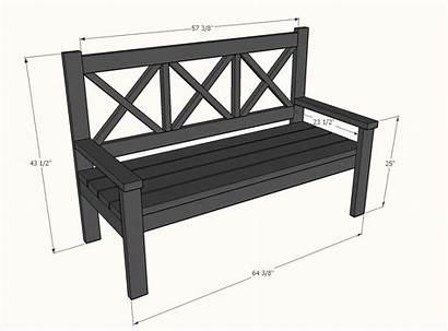Bench Porch Diy Ana Outdoor Dimensions Benches