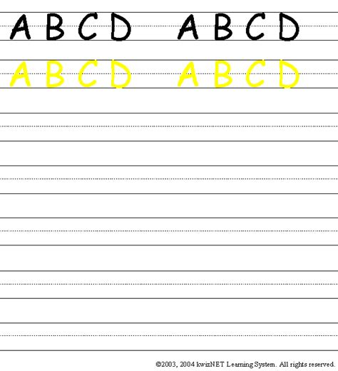 writing practice upper case abcd grade  english