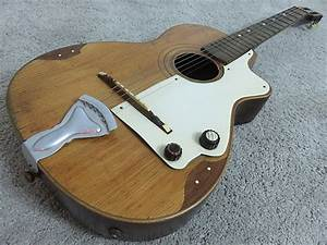 Vintage 1960s D'Angelo & Figli Acoustic Electric Guitar