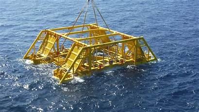 Subsea Template Ashtead Installation Development Deployed Being