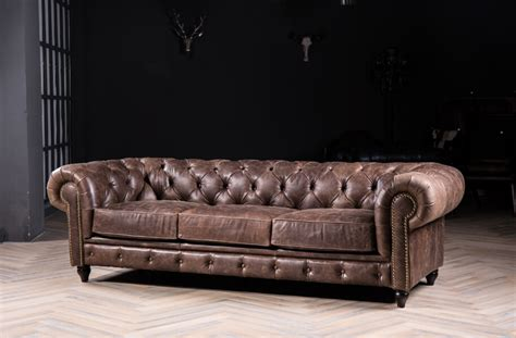 chesterfield style sofa chesterfield sofa sofa with vintage leather for