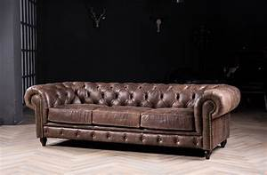 Sofa Vintage Leder : chesterfield sofa classic sofa with vintage leather for antique style sofa genuine leather sofa ~ Indierocktalk.com Haus und Dekorationen