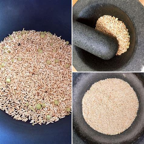 poudre de riz cuisine condiment thaï poudre de riz grillé à la citronnelle