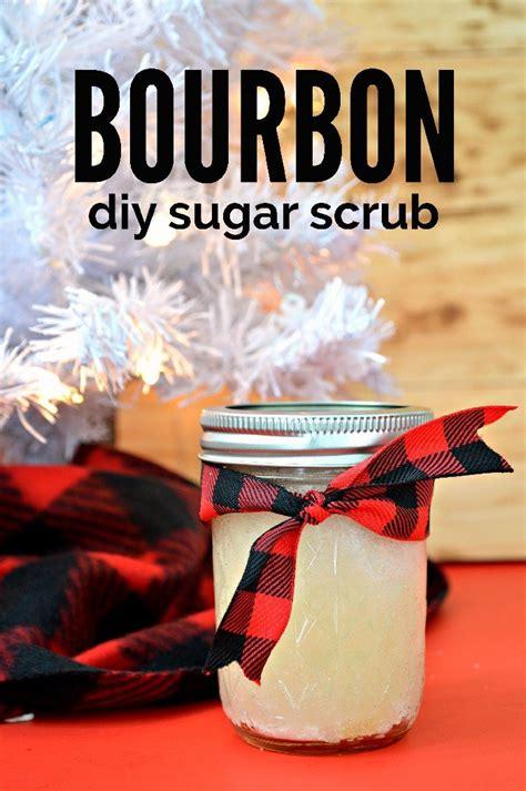 bourbon sugar scrub mason jar gift  men handmade