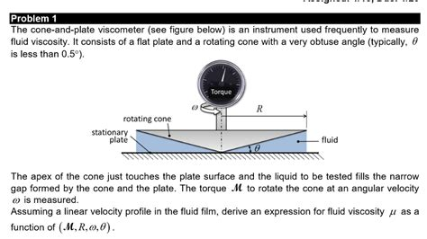 solved  cone  plate viscometer  figure   cheggcom