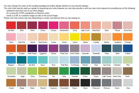 emmy designs   colour chart