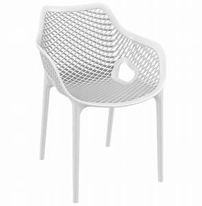 Chaise Blanche Plastique : chaise de jardin terrasse sister blanche en mati re plastique ~ Teatrodelosmanantiales.com Idées de Décoration