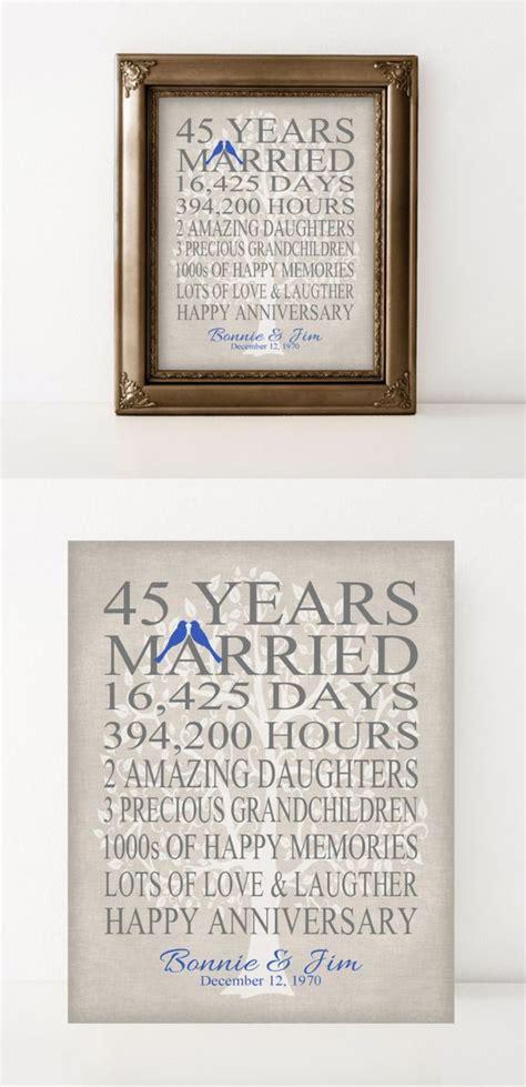 wedding anniversary gift  parents sapphire