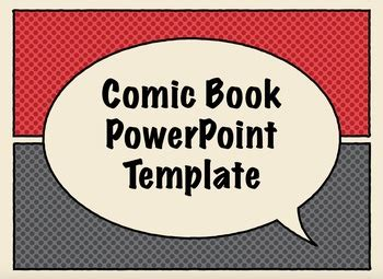 comic book  templates  techie teachables tpt
