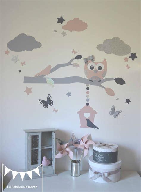 stickers décoration chambre enfant fille bébé branche cage