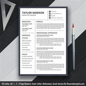 Professional Resume Template Ms Word  Modern Cv Template