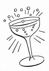 Cocktail Retro Glass Line Drawings Fairy Graphics Enlarge sketch template