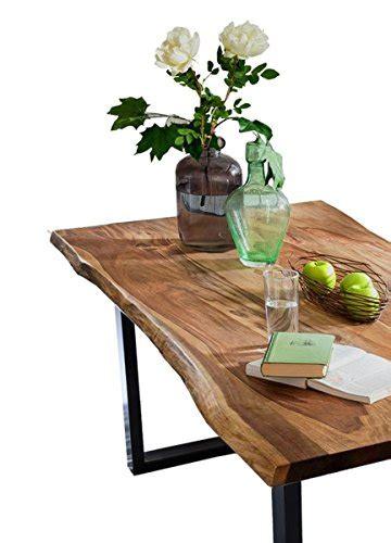 esstisch schwarz holz esstisch akazie holz massiv mit baumkante esszimmertisch nussbaumfarben 160 180 200cm fu 223