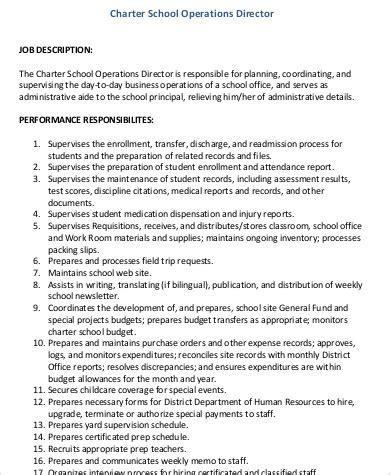 10+ Operations Director Job Description Samples Sample