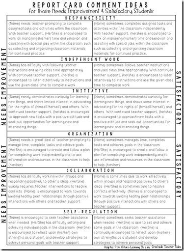 and craft comments for report cards n craft 621 | best 25 school report card ideas on pinterest kindergarten within art and craft comments for report cards