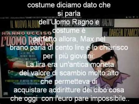 Testo Uomo Ragno Hanno Ucciso L Uomo Ragno 2012 Testo Lyrics