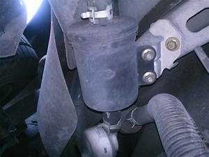 Mazda Protege 2000 1 6l Fuel Filter Discovered At The Left Rear Under The Car