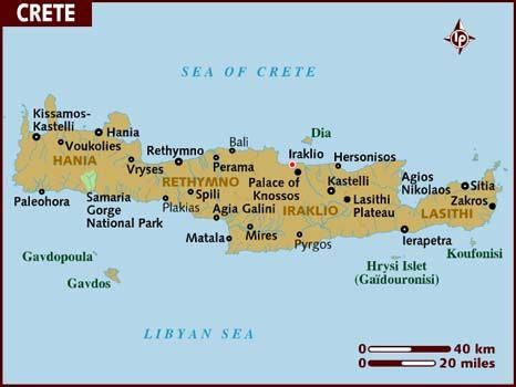 map  crete favorite places spaces   crete
