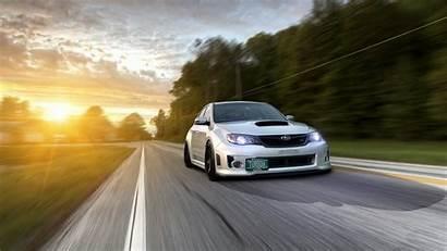 Subaru Wrx Impreza 4k Sti Road Traffic