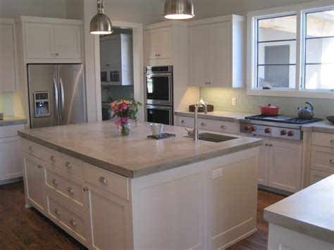 kitchen countertops concrete concrete kitchen countertops angie s list