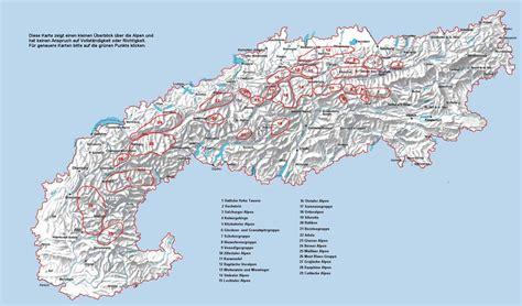 oesterreich alpen karte
