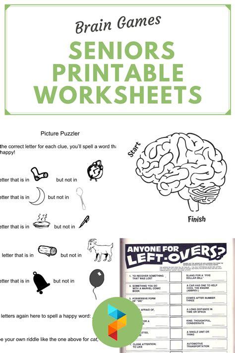 cognitive worksheets  elderly   brain games