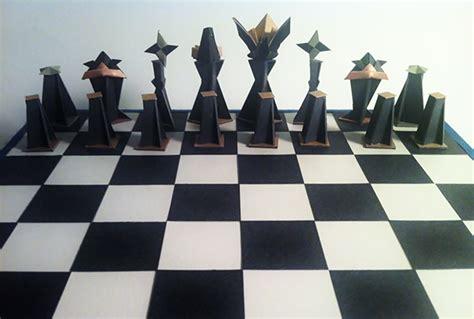 origami chess  behance