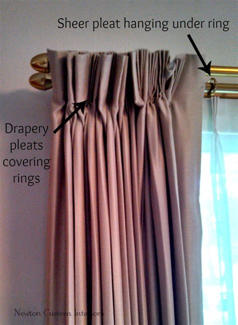 how to hang pleated curtains on traverse rod curtain
