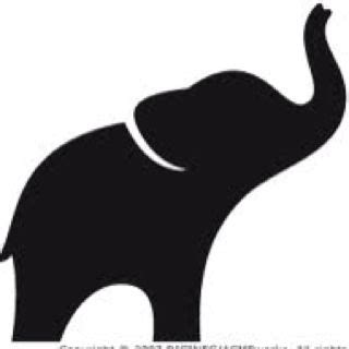 elephant clipart outline trunk up 1000 ideas about elephant outline on elephant