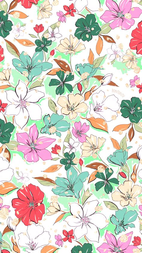 Download 5,970 watercolor flower free vectors. Phone Wallpapers HD Watercolor Flowers - by BonTon TV - Free Backgrounds 1080x1920 wallpapers ...