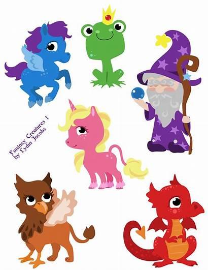 Creatures Fantasy Clipart Unicorn Pegasus Domain Dragon