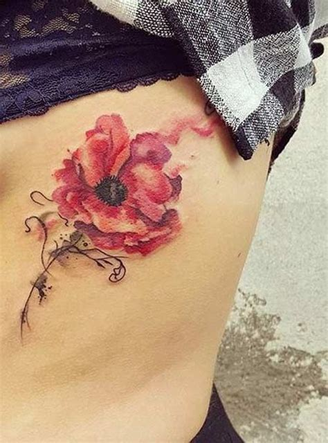 watercolor poppy tattoo designs ideas  meaning