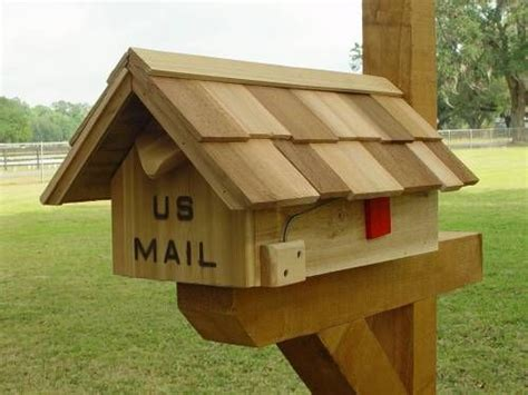 handcrafted cedar wood mailboxescustom mailboxes