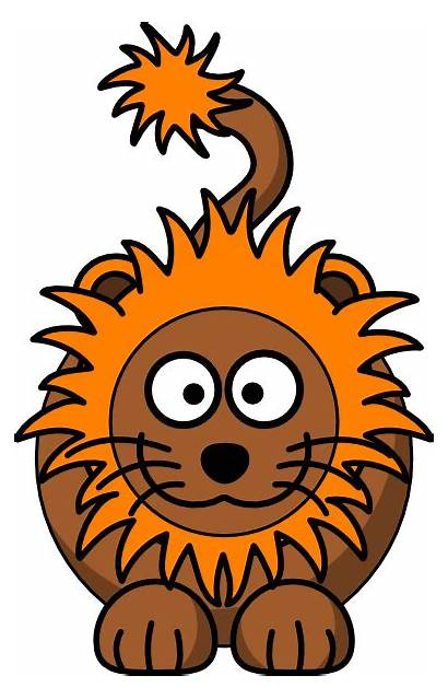 Lion Cartoon Orange Clip Mane Clipart Vector