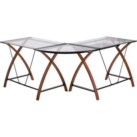 l shaped glass desk flash furniture l shaped glass computer desk with pull out