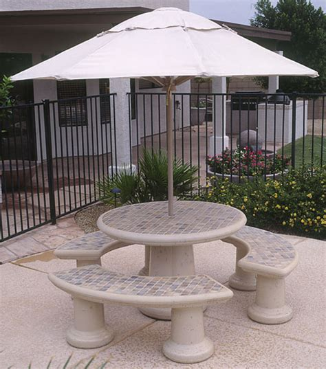 concrete landscape tables outdoor concrete tables