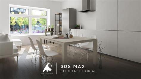 3ds max kitchen design 3ds max living kitchen design tutorial light photosop 3896