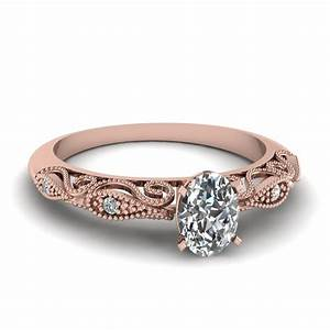 oval shaped paisley diamond ring in 14k rose gold With wedding ring rose gold diamond