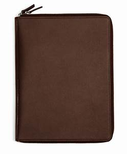 brooks brothers saffiano leather document case in brown With leather document case