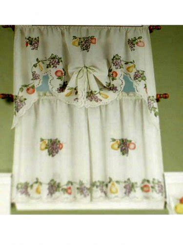 Grape Themed Kitchen Curtains by Grapes Apples Pears Fruit Kitchen Curtains Set