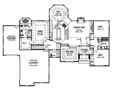 morgan cliff country ranch home plan   house