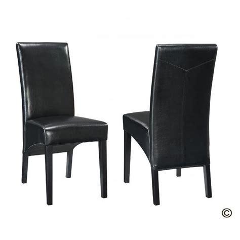 chaise en cuir noir chaise de salle a manger en cuir noir