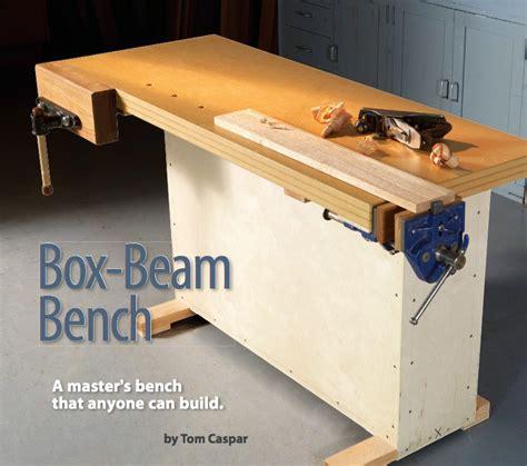 diy workbench plans box beam bench popular woodworking